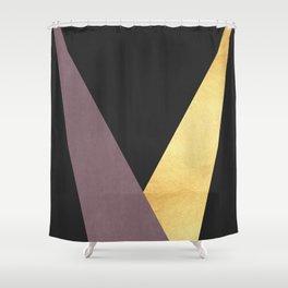 Golden line XII Shower Curtain
