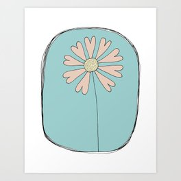 Flowers Have Hearts Art Print