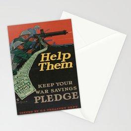 Vintage War Bonds Poster Stationery Cards