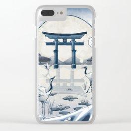 Japan Vintage Torii Gate Clear iPhone Case