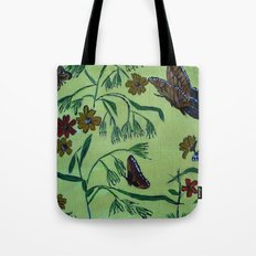 wildflowers and butterflies Tote Bag