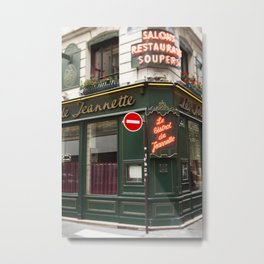 French Bistro - travel photography Metal Print