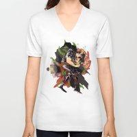 berserk V-neck T-shirts featuring Guts by Kerederek