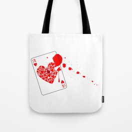Ace of Hearts With Blood Tote Bag