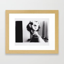 gentle, kitty Framed Art Print