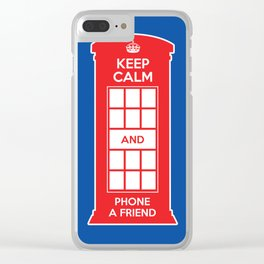 Keep calm and phone a friend. UK London Clear iPhone Case