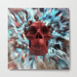 Red Jasper Skull Secret Metal Print