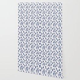 Blue Baseball Players Wallpaper