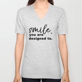 Designed to Smile Unisex V-Neck