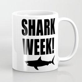 Shark Week, black text on white Coffee Mug