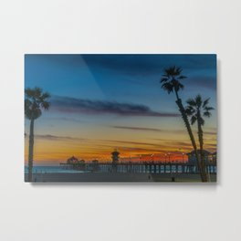 The Pier Framed Metal Print