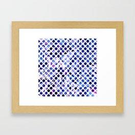 Fluid Dot (Blue Version) Framed Art Print