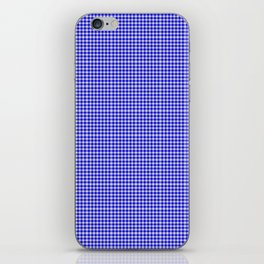 Blue Gingham iPhone Skin