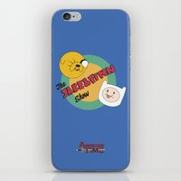 finn and jake iPhone & iPod Skins featuring The Jake & Finn Show. by Agu Luque