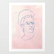 One line Frida Kahlo Art Print