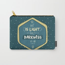 """God is Light"" Hand-Lettered Bible Verse Carry-All Pouch"
