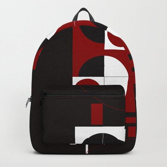 Geometric/Red-White-Black  1 Backpack