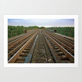 Atop High Bridge Art Print