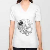 spaceman V-neck T-shirts featuring Spaceman by Xadrea