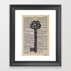 Key vintage #2 Framed Art Print
