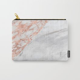 Massarosa Marchionne Bianco rose gold marble Carry-All Pouch