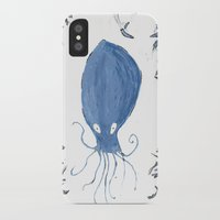 squid iPhone & iPod Cases featuring squid.  by Elvis Vazquez