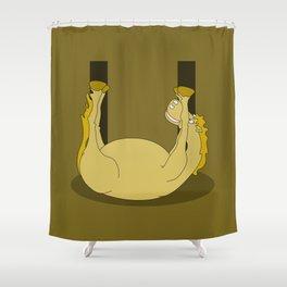 Monogram U Pony Shower Curtain