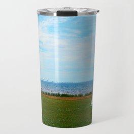 Long Bridge and Tiny Lighthouse Travel Mug