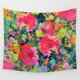 colorful floral composition Wall Tapestry
