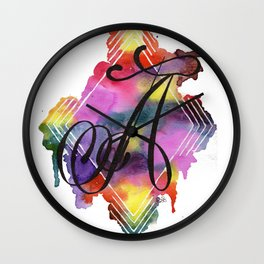 Calligraphy Capital Initial A Wall Clock