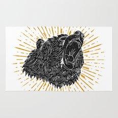 Bear Attack Rug