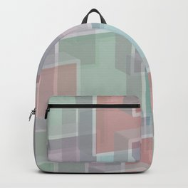 Lucite Blocks Pastel pink, green, blue, purple Backpack
