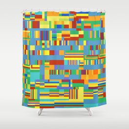 Chromatetude (Candy Colours) Shower Curtain