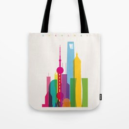 Shapes of Shanghai. Accurate to scale Tote Bag