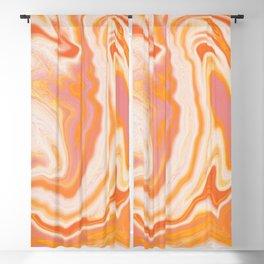 orange marble Blackout Curtain