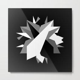 Abstraction 025 - Minimal Geometric Triangle Metal Print
