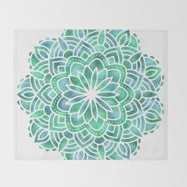 Mandala Southwest Succulent Throw Blanket