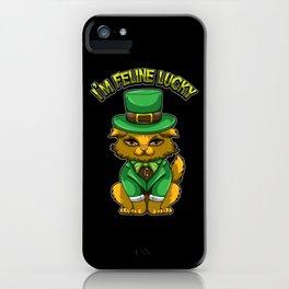 I'm Feline Lucky - St. Patrick's Day Irish Cat iPhone Case
