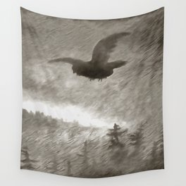 Stealth And Surprise Of The Night Owl Wall Tapestry