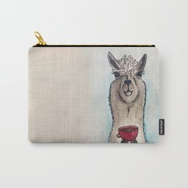 Just a Llama & His Latte Carry-All Pouch
