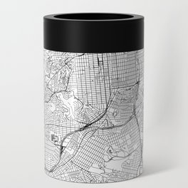 San Francisco White Map Can Cooler