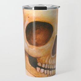 deaths grinning head Travel Mug