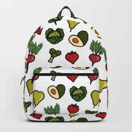 Heart shaped fruit and vegetables Backpack