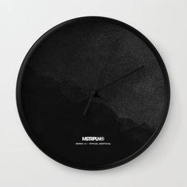 Minimal Splash - Dark Wall Clock
