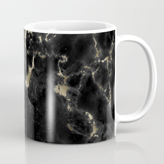 Black and Gold Marble by kimwilson