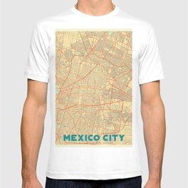 Mexico City Map Retro T-shirt
