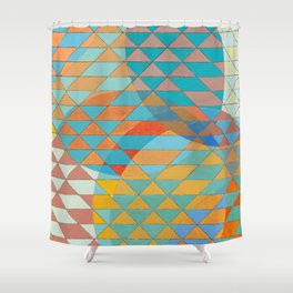Triangle Pattern No. 11 Circles Shower Curtain