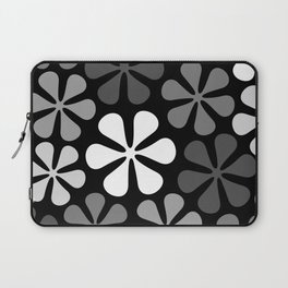 Abstract Flowers Monochrome Laptop Sleeve