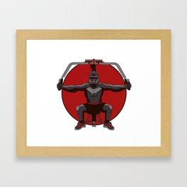 Animal Workouts: Gorilla Framed Art Print