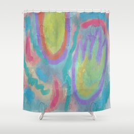 Spring Abstract Digital Painting Shower Curtain